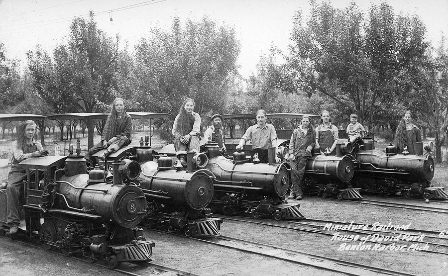 The House of David's younger male members were tasked with keeping the trains running and serving as engineers. Such a job would be a model railroader's dream come true.