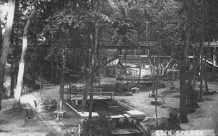 They then moved the birds from the birdcage as well as other animals that had been on display to the park and expanded that attraction into a full zoo.  The original zoo was located just west of the east train trestle where the midget auto raceway was located years later.