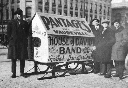 The House of David Bands were promoted as a novelty act on the circuit.  While by all accounts the quality of their music and performance was first rate, being an oddity always helped pull in the crowds.