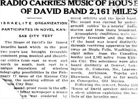 In retrospect it is hard to judge how important the music of House of David was.  The bands played to huge audiences and enthusiastic reviewers across the United States before and during the early days of Jazz.  Contemporary accounts consistently describe them as top musicians but while the baseball team's position in history is secure the echo of the road band's music seems to have faded almost as quickly as the bands themselves.