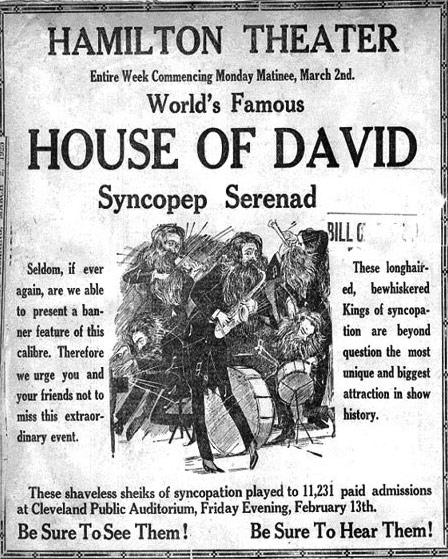 Years later House of David musician and conductor Manna Woodworth claimed that he wrote the House of David Blues.  There may be evidence that the House of David was using it as their theme song prior to the Schoebel publication in 1923.  Since Schoebel and the House of David band were continuously crossing paths he could have seen the House of David bands perform it and, without the stringent protection of modern copyright laws, simply ''adapted'' it to fit their needs.